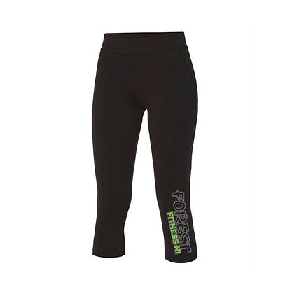 Forest Fitness Capri Leggings