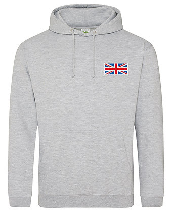 Union Jack Men's Embroidered Pullover Hoodie