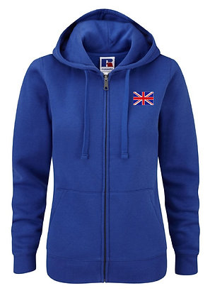 Union Jack Embroidered Women's Zip Hoodie