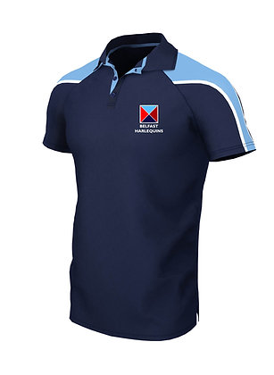 Belfast Harlequins Unisex Pro Contrast Polo