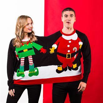 Adults Double Santa/Elf Christmas Jumper