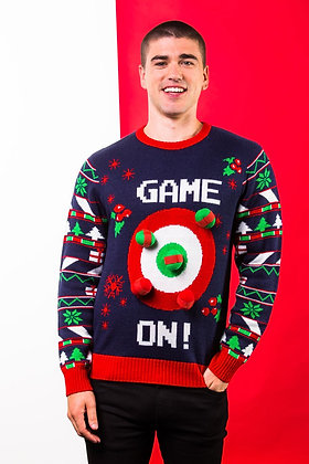 Adults 3D ball & Velcro Christmas Jumper