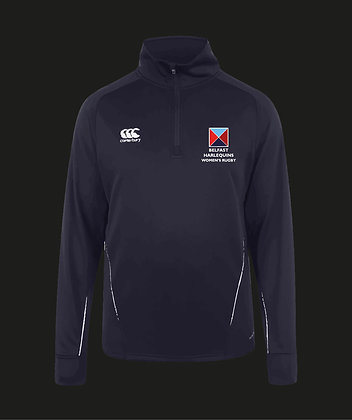 Harlequins Women's Team 1/4 Zip Mid Layer Training Top
