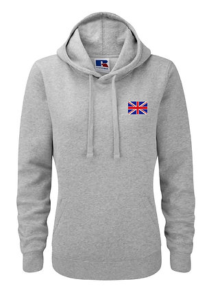 Union Jack Embroidered Womens Pullover Hoodie