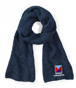 Belfast Harlequins Metro Knitted Scarf
