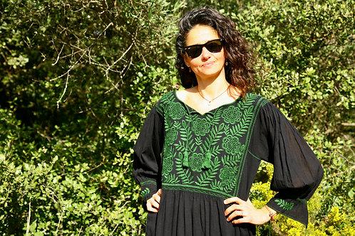 Robe Carlita noire et verte