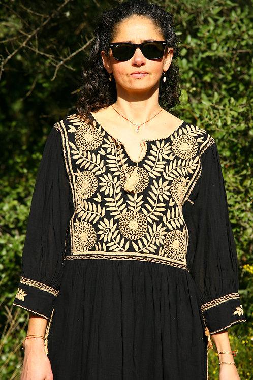 Robe Carlita noire et beige