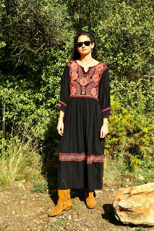 Robe Carlita noire et rose