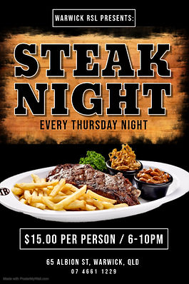 Copy of Steak Night Poster - Made with P