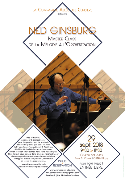 Affiche Master Class Ned Ginsburg sept 2