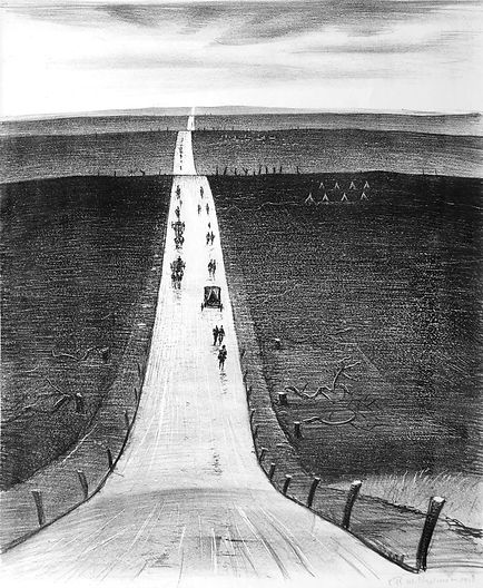 7 OSBORNE SAMUEL CRW Nevinson, The Road