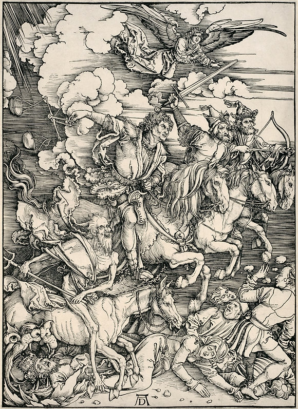 1_David_Tunick-_Dürer,_Four_Horsemen_o