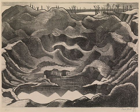 1 OSBORNE SAMUEL Paul Nash, Mine Crater