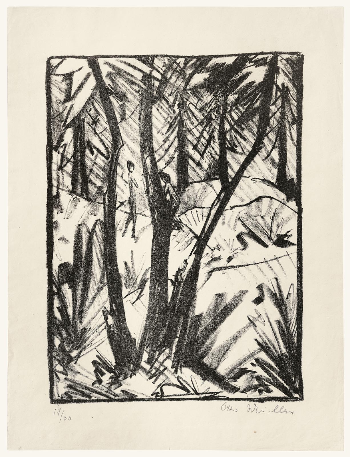 Otto Mueller, Bosco Con Piccole Figure_F.jpg