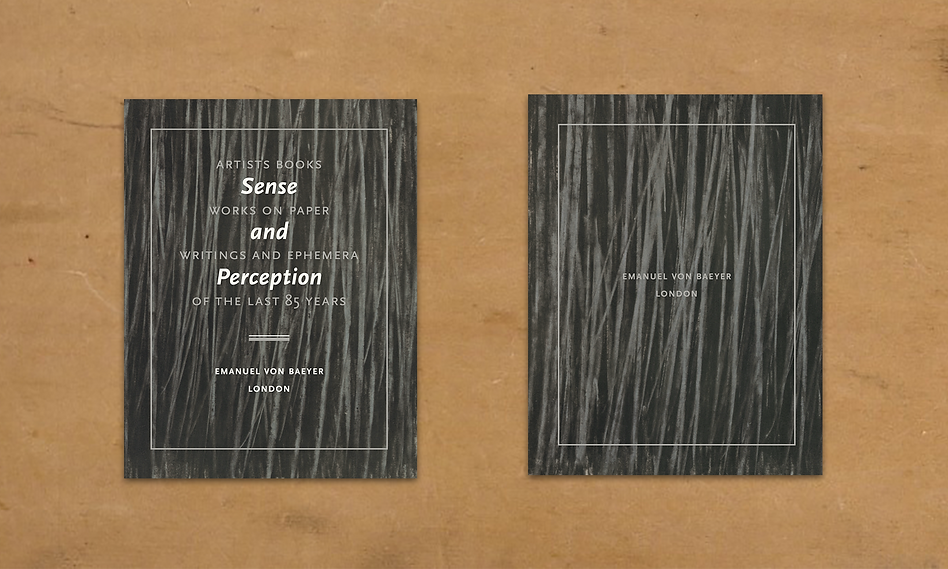 Sense and Perception catalogue template.