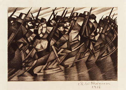 6 OSBORNE SAMUEL CRW Nevinson, Returning