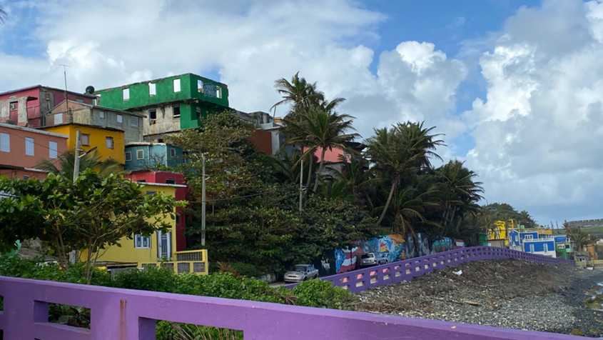 The coastal town of La Perla in Puerto Rico is threatened by an encroaching ocean on one side, and a gentrifying historic district on the other. The town is home to some of Puerto Rico's poorest people.