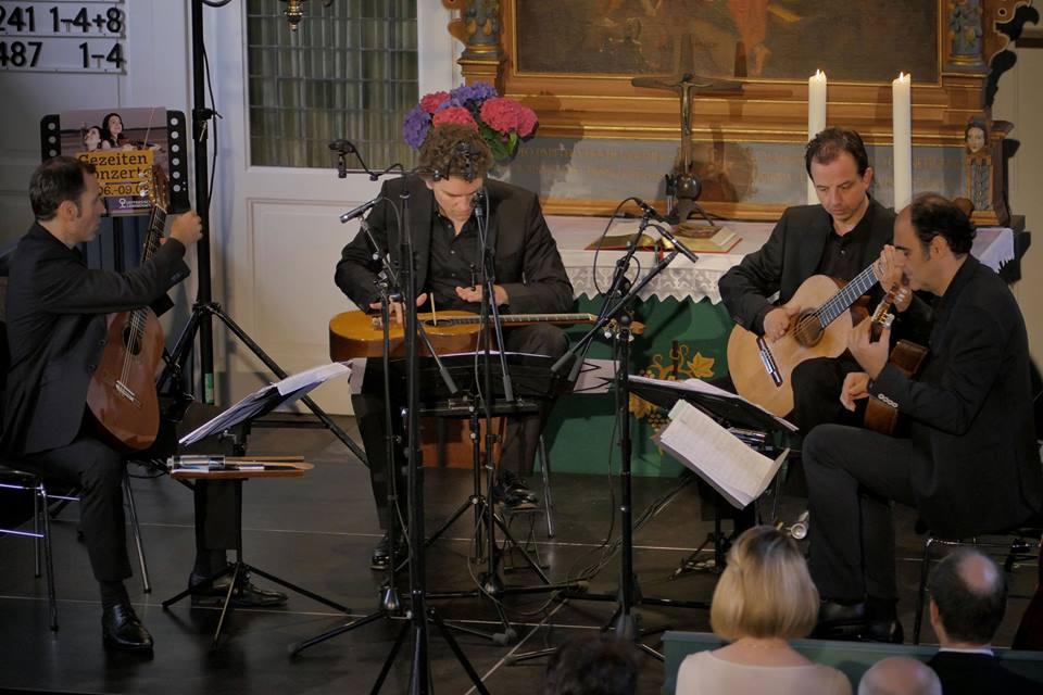 "Hesel Gezeiten Konzerte ALEPH Gitarrenquartett Premiere Stephan Storck ""5 Bagatellen"" 2015"