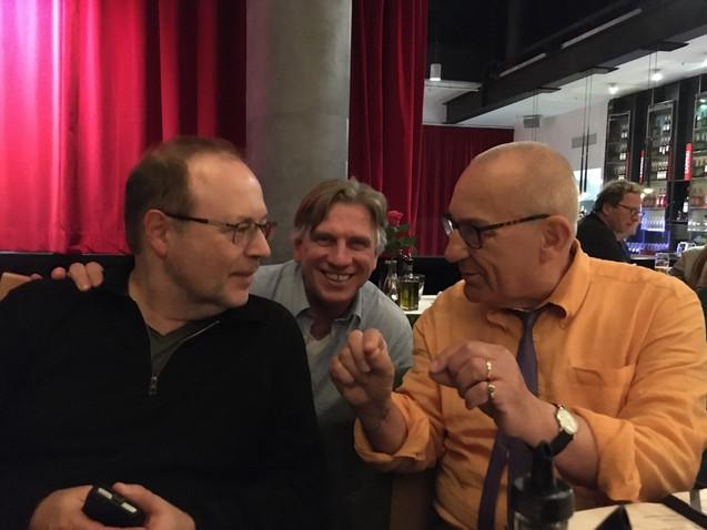 Jörg Mainka, Markus Hechtle, Nicolaus A. Huber after concert ALEPH Gitarrenquartett
