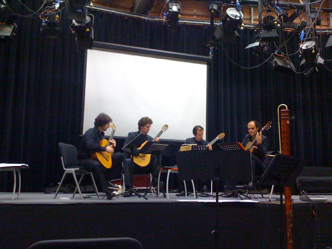 Innsbruck KLANGSPUREN SCHWAZ, Innsbruck ORF 2011 rehearsel ALEPH Gitarrenquartett