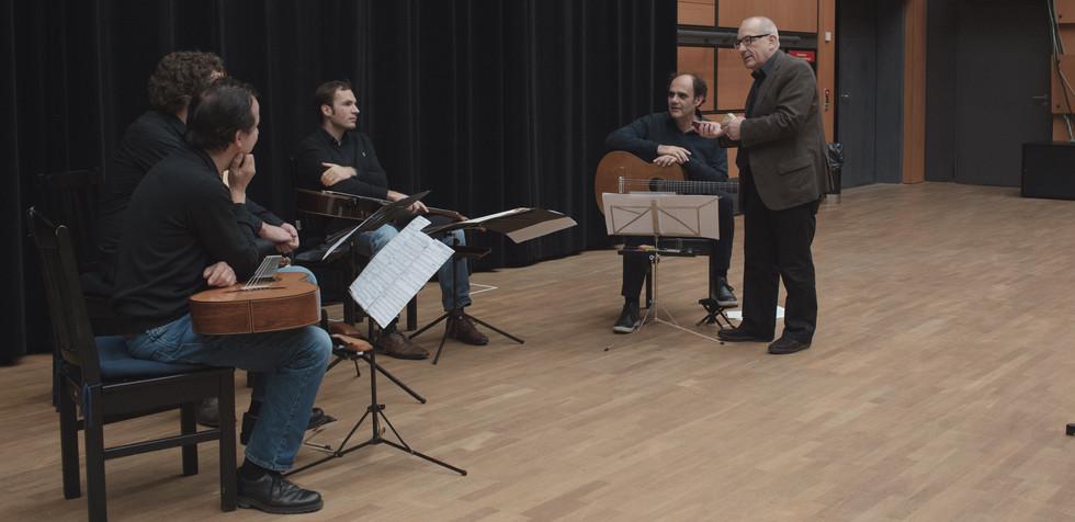 "Nicolaus A.Huber ""Der entkommene Orpheus"" rehearsel"