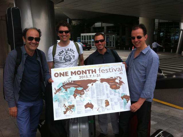 Korea arrival ALEPH Gitarrenquartett onemonthfestival 2015