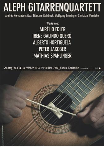 Karlsruhe ZKM concert ALEPH Gitarrenquartett 2014