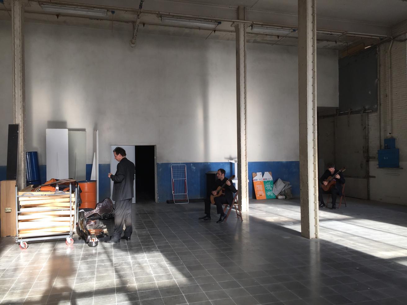 Barcelona  Fabra i Coats-Fàbrica de Creació de Barcelona backstage ALEPH Gitarrenquartett