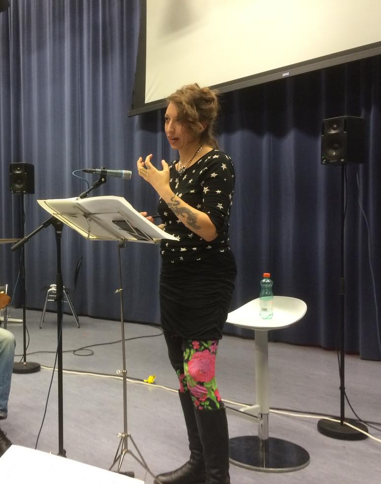Graz ORF rehearsel ALEPH Gitarrenquartett with Daisy Press