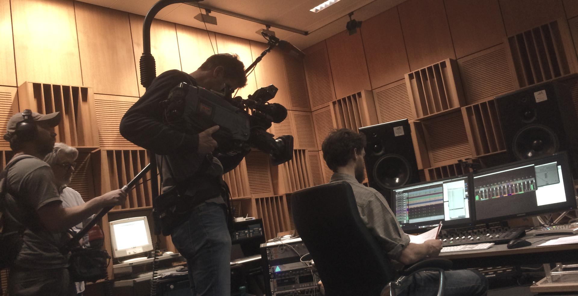 TV team SWR feature ALEPH Gitarrenquartett