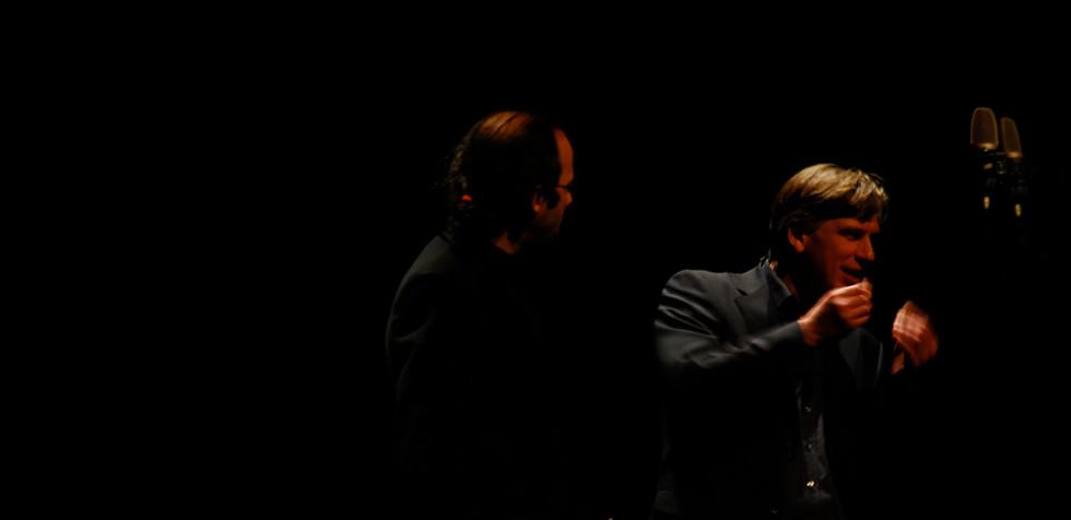 """Markus Hechtle """"Linie mit Schraffur"""" (for guitar quartet and clarinet) rehearsal with Miguel Angel Marín Wolfgang Rihm Forum 2013"""