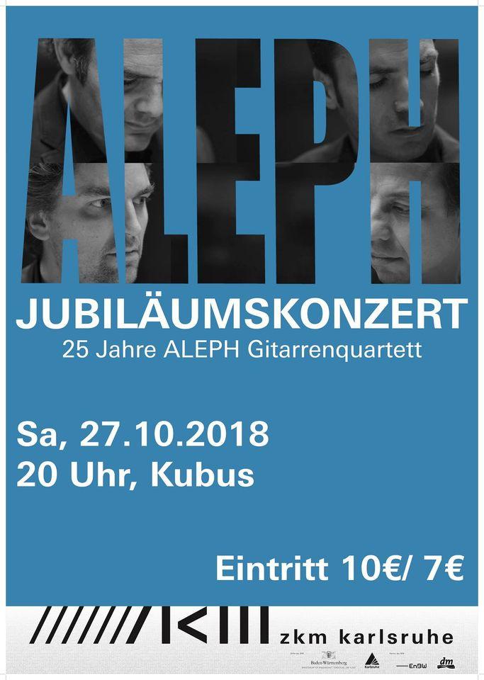 Karlsruhe ALEPH Gitarrenquartett 25 anniversary 2018