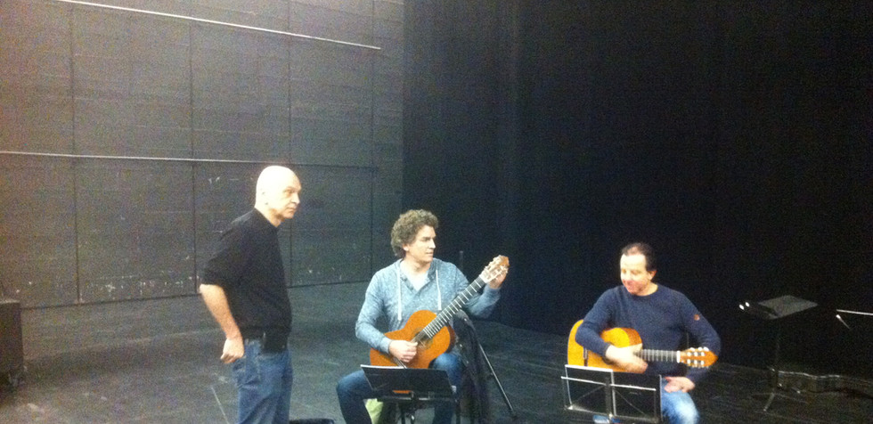 """Bernhard Lang """"The Cold Trip"""" rehearsal for premiere Berlin 2016"""