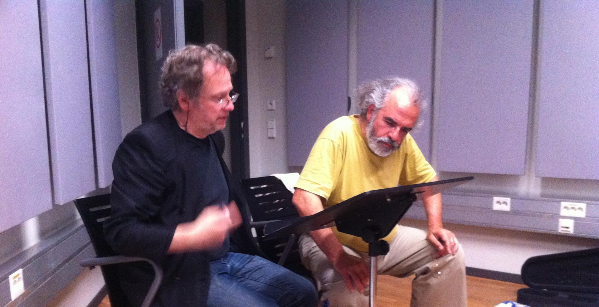 Stephan Storck & Manuel Hidalgo rehearsel ZKM
