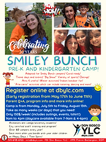 2 Smiley Bunch K camp registration info
