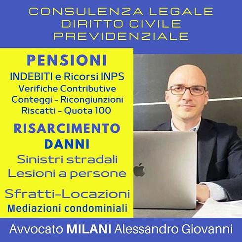Avvocato MILANI Alessandro Giovanni PENS