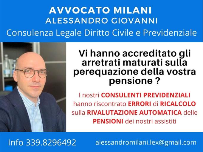 Arretrati perequazione o rivalutazione pensioni Avvocato Milani Alessandro Giovanni.jpg