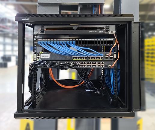 running fiber in industrial facility