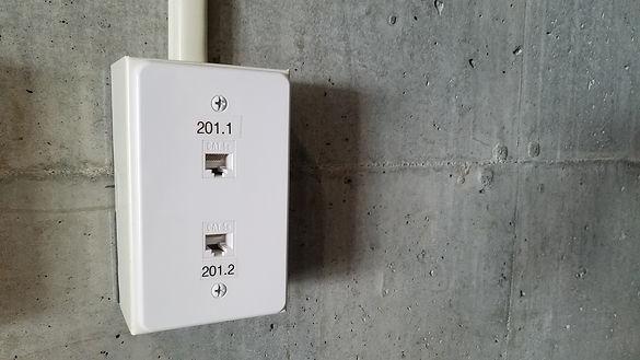 data drop cement wall conduit