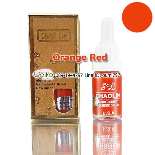 สีสัก Chao Lin สี Orange Red