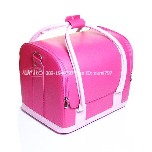 กระเป๋าหนังสีชมพู 2 สี