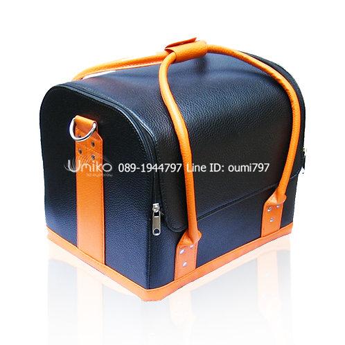 กระเป๋าหนังดำส้ม