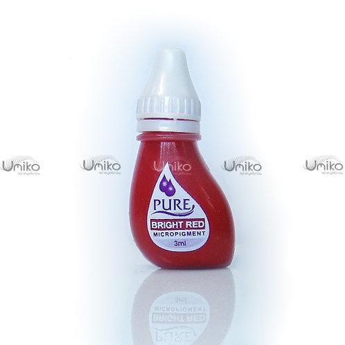 สีสักปาก Pure สี Bright Red