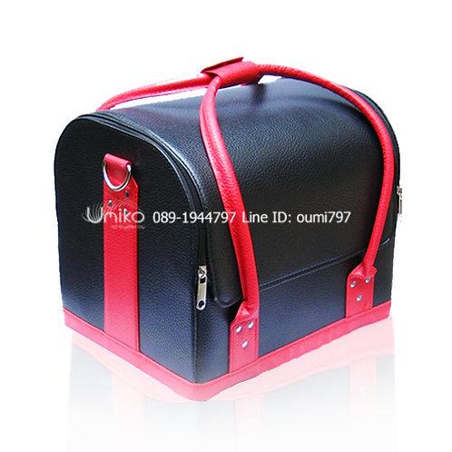 กระเป๋าหนังดำแดง