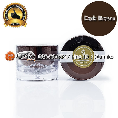 สีเพ้นท์ AnnaS Korea Embo Dark Brown