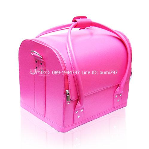 กระเป๋าหนังสีชมพู