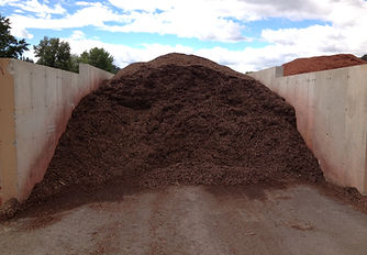 Chocolate brown Colored mulch
