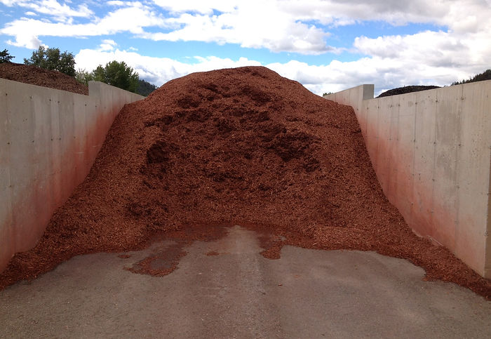 Ameri-Red colored mulch