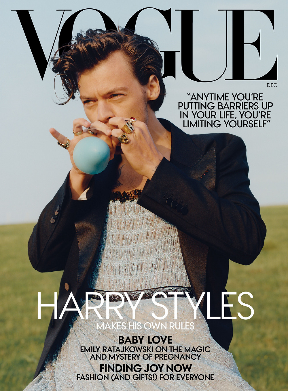 Harry Styles becomes Vogue's first-ever solo male cover star - CNN Style