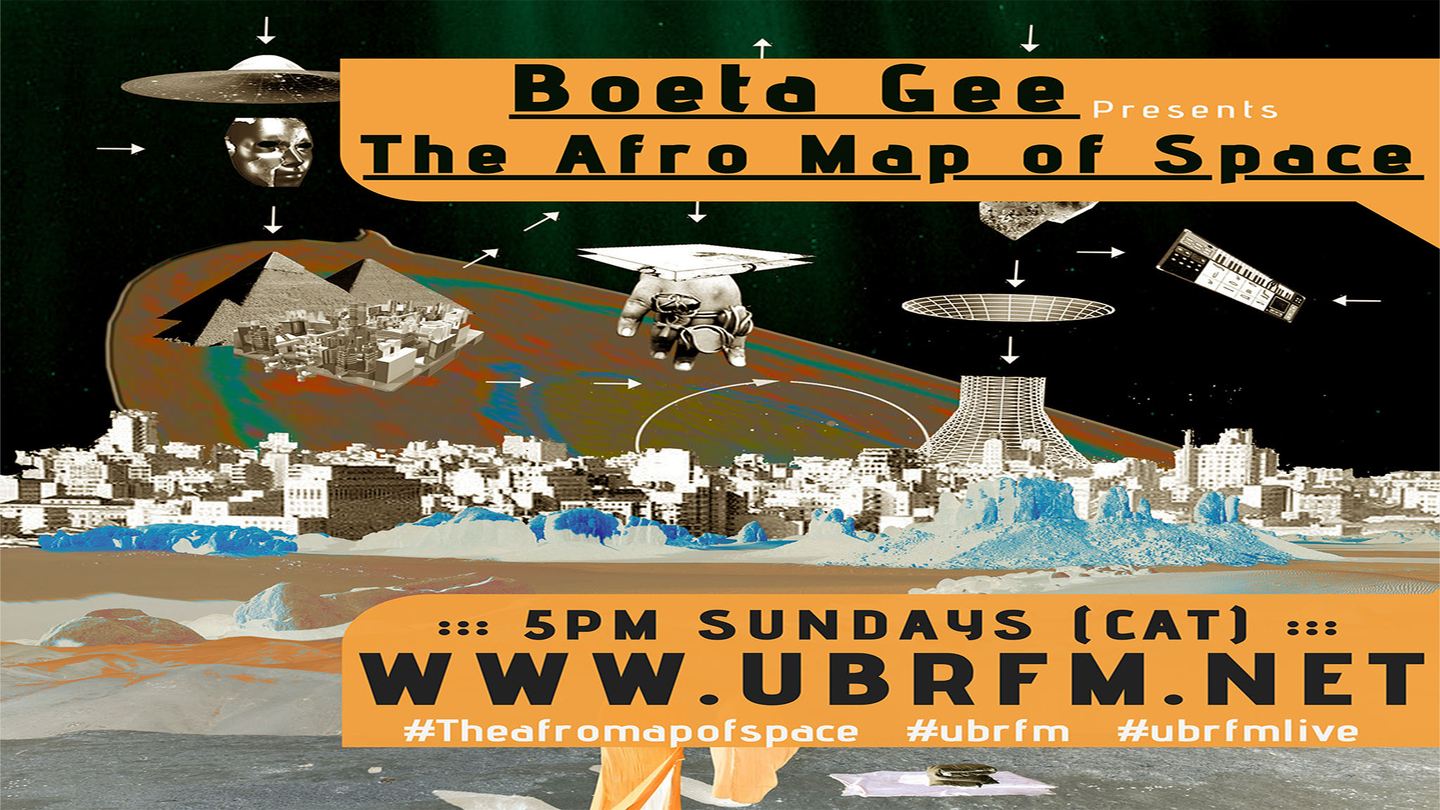 Afromaps of Space New Poster